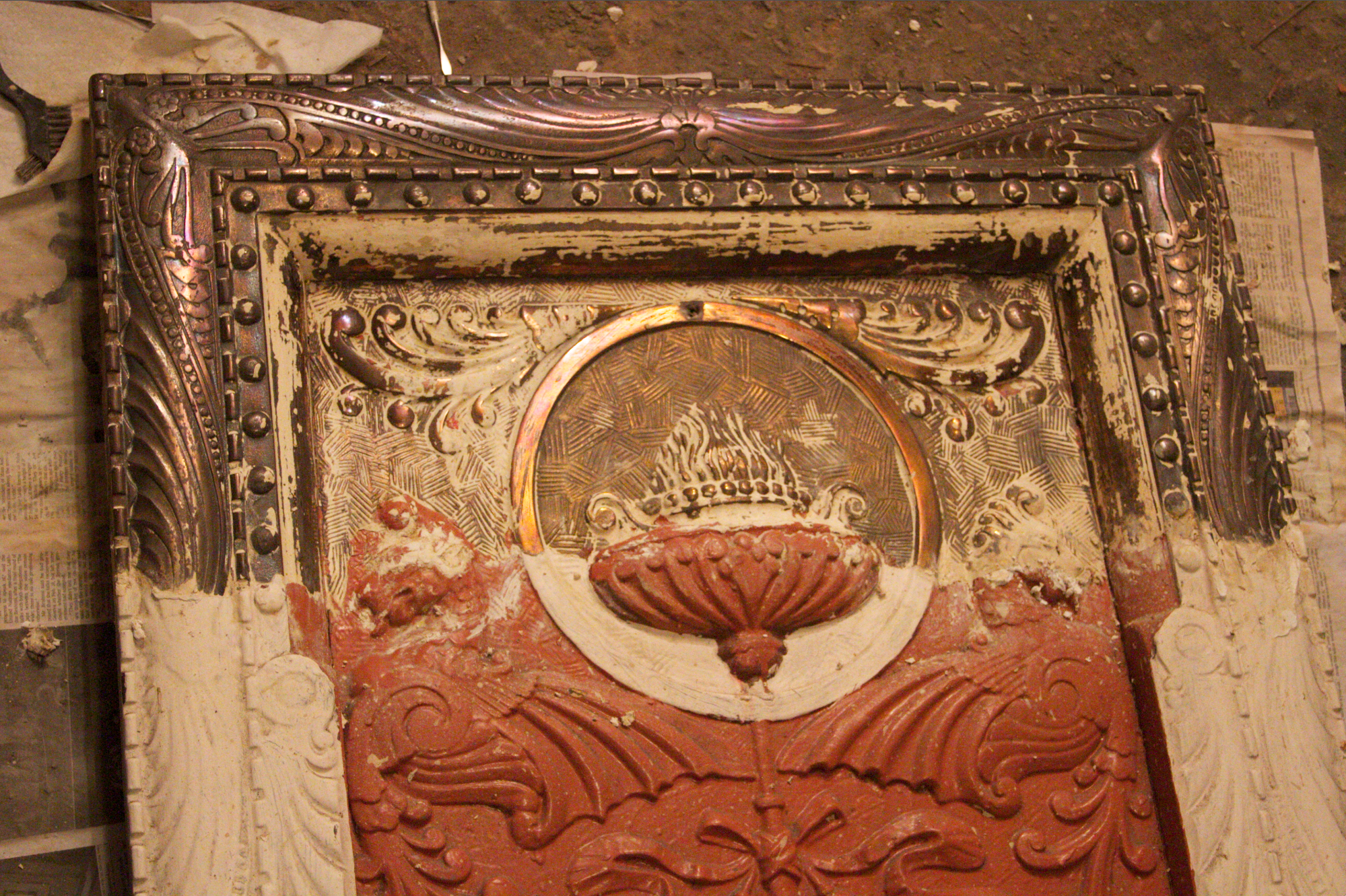 fireplace a pink brownstone in brooklyn