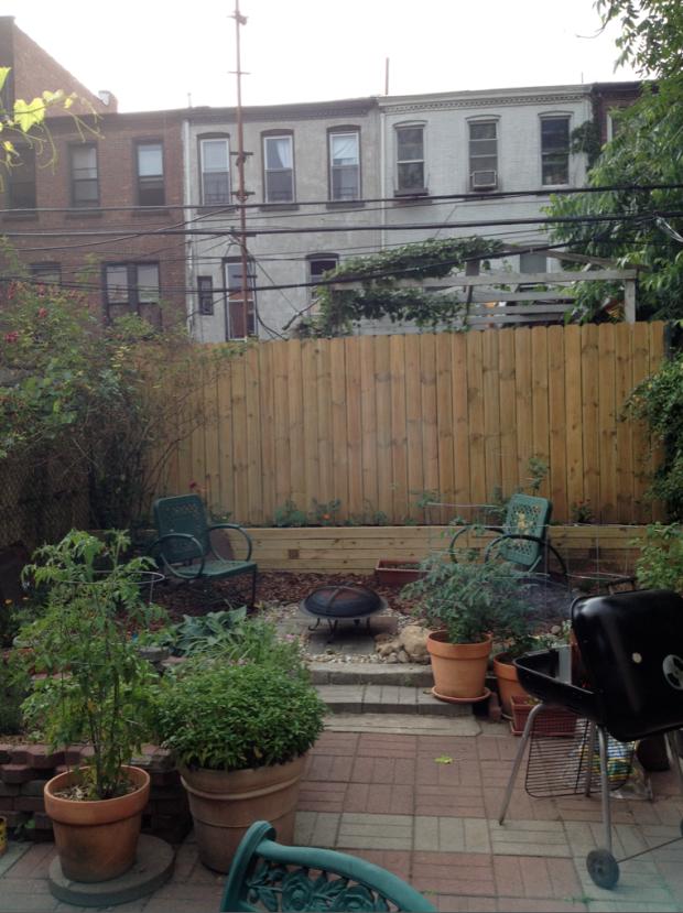 backyard A Pink Brownstone in Brooklyn