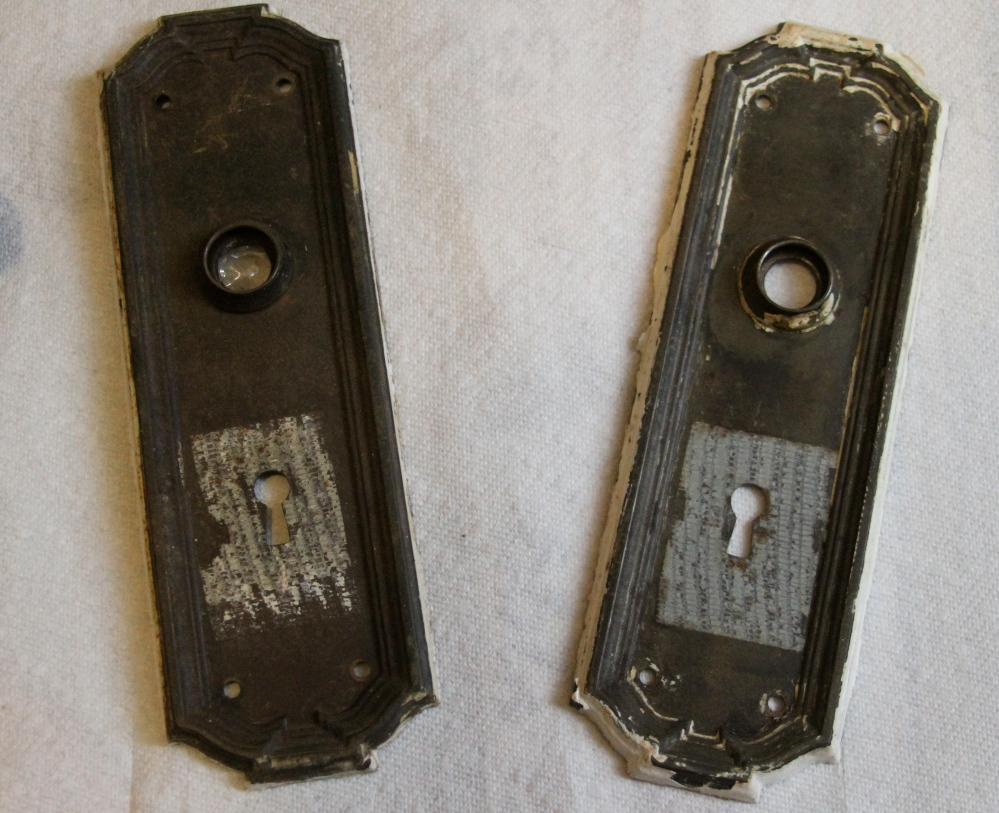Back plates with tape residue