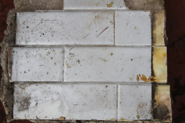 Paint covered tile