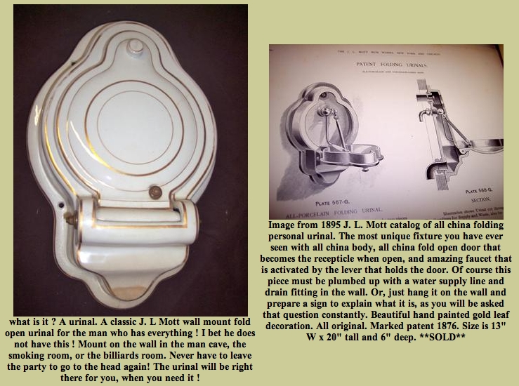 Victorian Folding Urinal