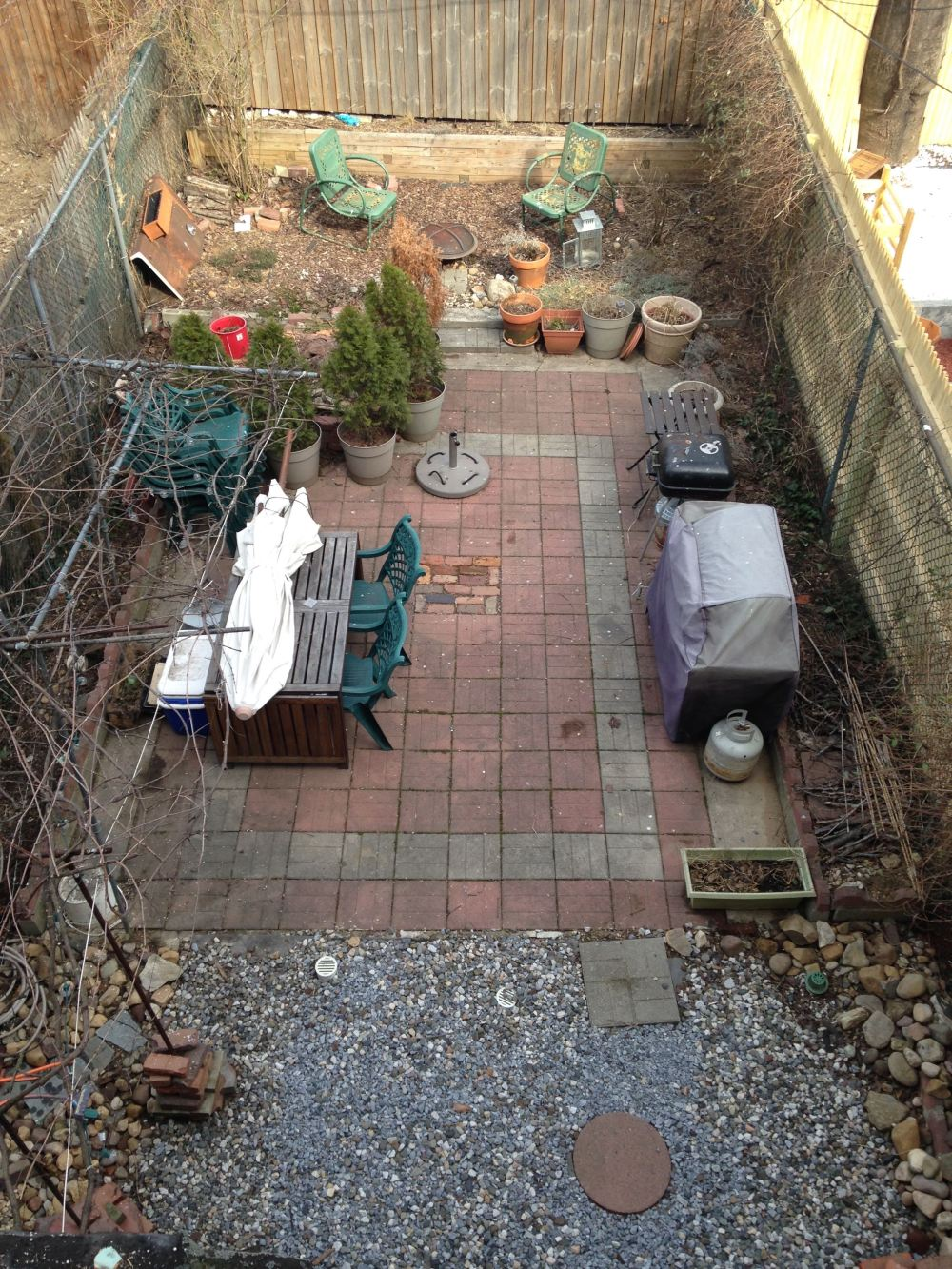 Back yard now