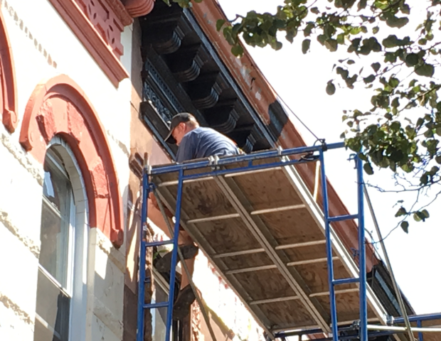 cornice-being-repaired